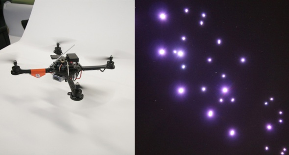 Spaxels - flying points of light (c) Ars Electronica Futurelab 2012